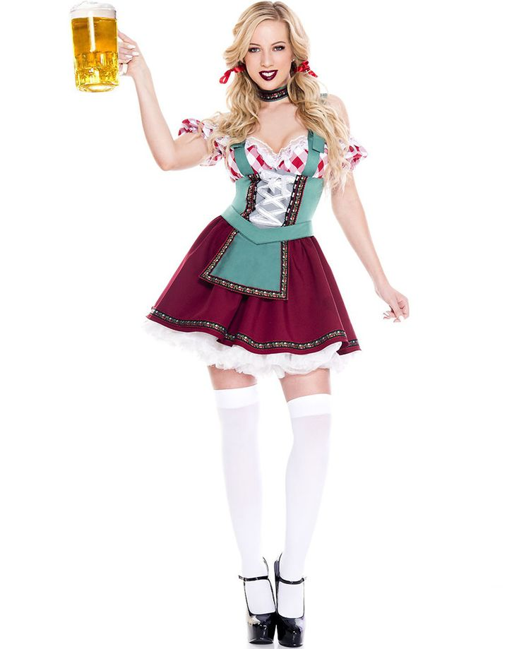 Sexy green german oktoberfest outfit