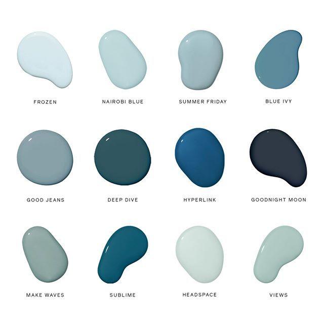 Feeling The Blues Best Blue Paint Colors Blue Paint Colors Blue Paint Palette