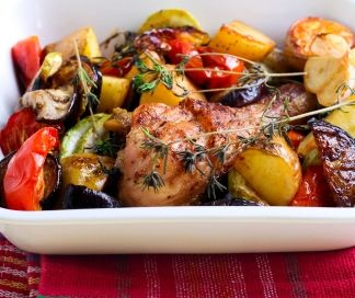 Ovengebakken kip met groenten  | SPAR