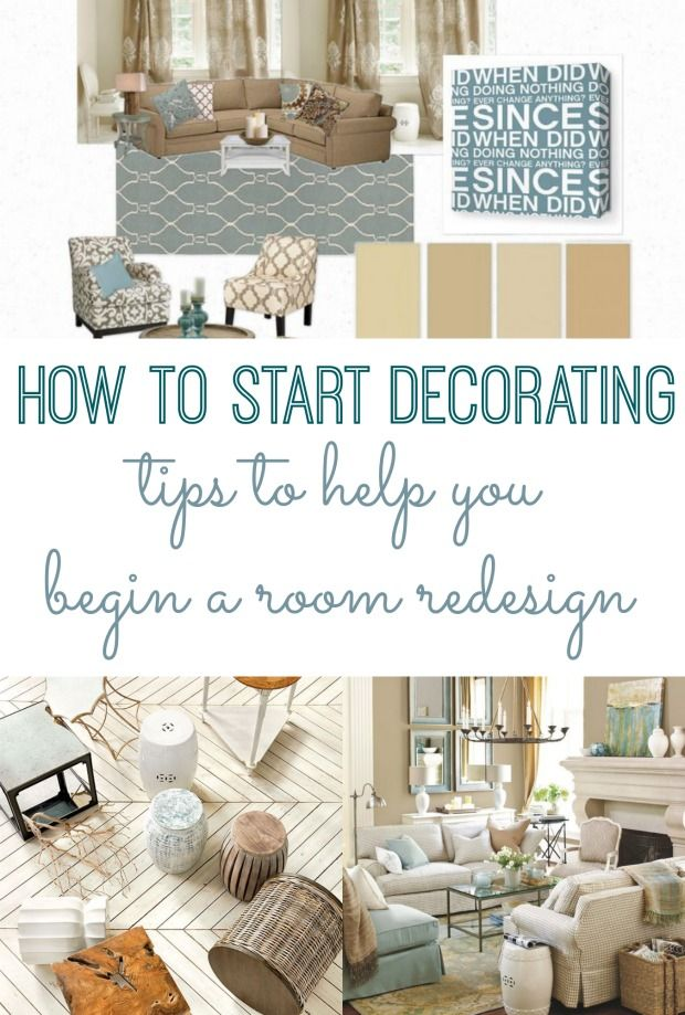 Tips on where to even begin when you want to redecorate a room. How to start decorating.