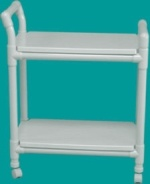 PVC pipes paint it silver to look like a bistro cart?