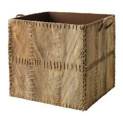 IKEA - KOTTEBO, Basket, Perfect for newspapers, photos or other memorabilia.Easy to pull out and lift as the box has handles.Palm leaves have natural colour variations which make every basket unique.Each basket is woven by hand and is therefore unique.