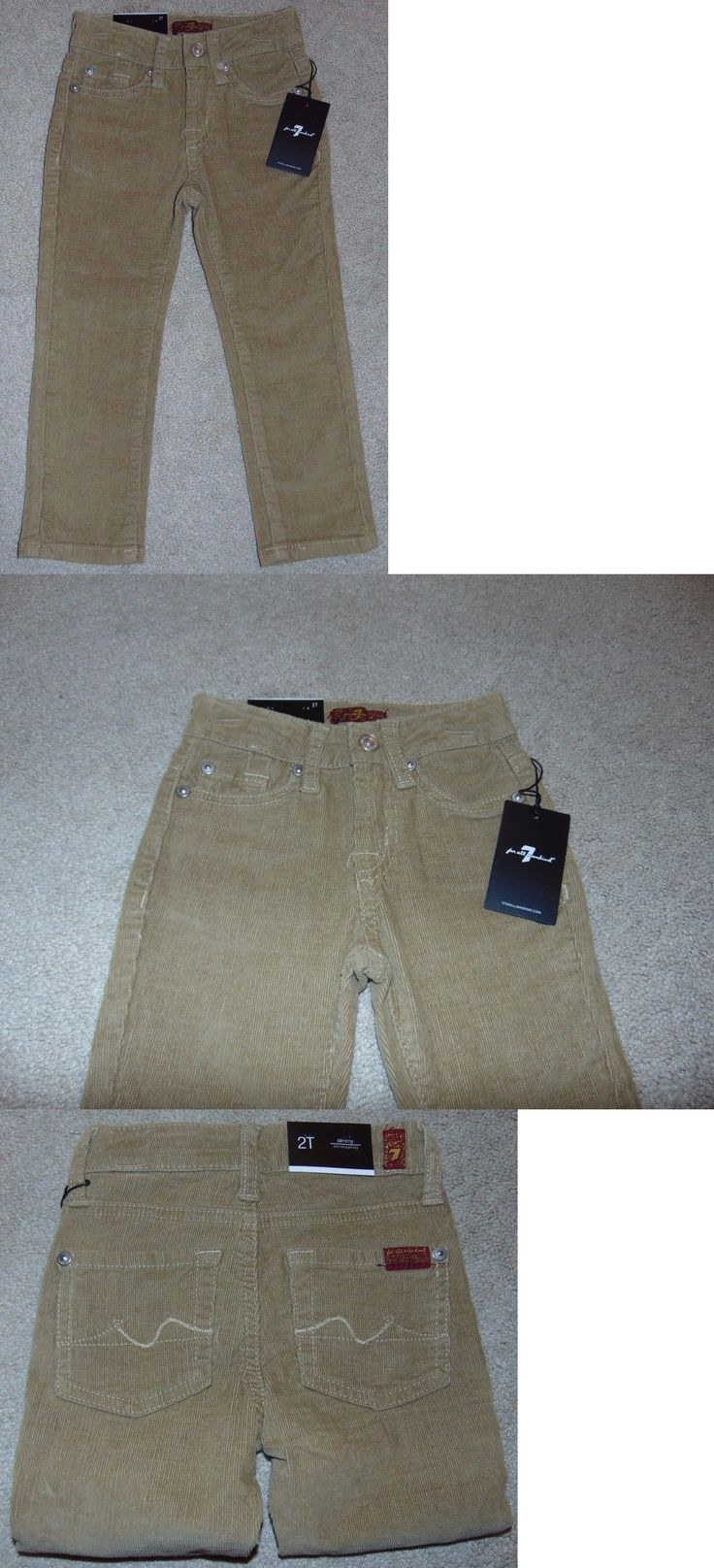 Bottoms 57793: ~Nwt Boys 7 For All Man Kind Corduroy Skinny Pants W Adw! Size 2T Cute Fs $59:)~ -> BUY IT NOW ONLY: $32.95 on eBay!