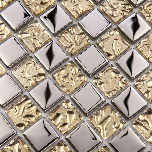 Mosaic tile mirror metal silver 23mm square discount bathroom shower decor art living glass kitchen backsplash. 1000  ideas about Discount Bathrooms on Pinterest   Discount