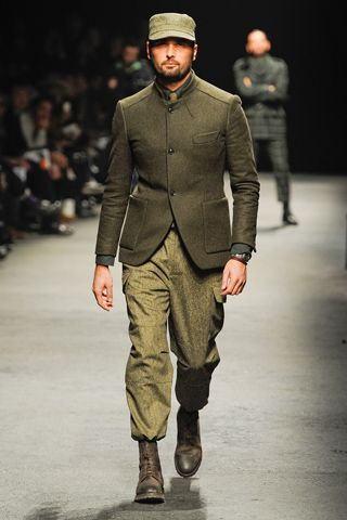 this is what military inspired means... it looks like you just washed nazi blood off your boots then hit the runway