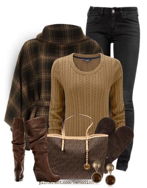 Winter Outfits For Women With Brown Cape My Inspiration