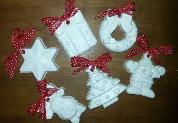 Gessetti gessi natalizi con fiocco rosso 50 PEZZI di Alesimoaurora