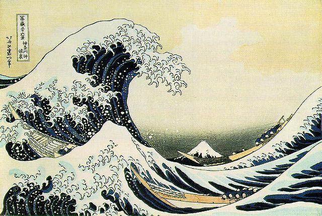 Hokusai. On this board, fashion based on art.