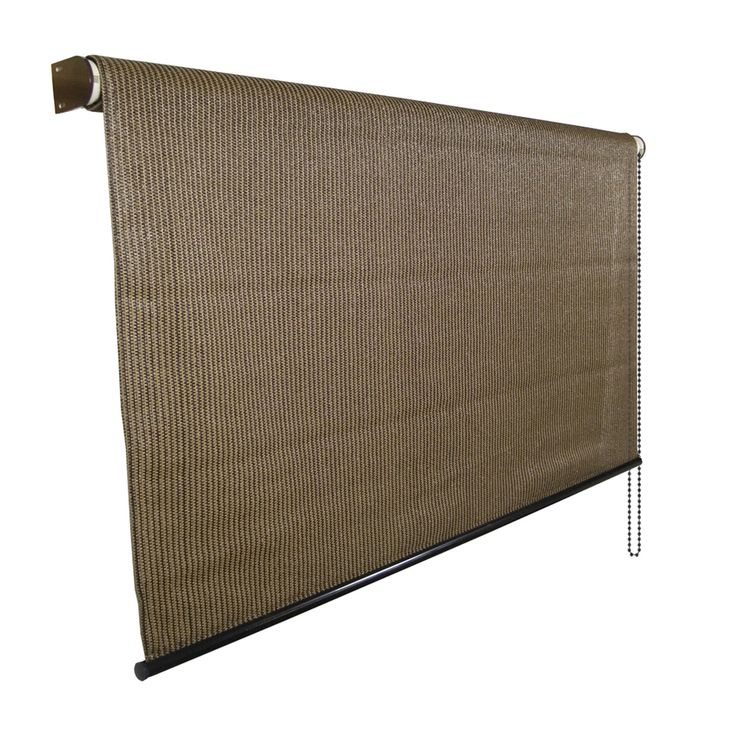 Shop Coolaroo 96-in W x 72-in L Mocha Light Filtering Exterior Shade at Lowes.com