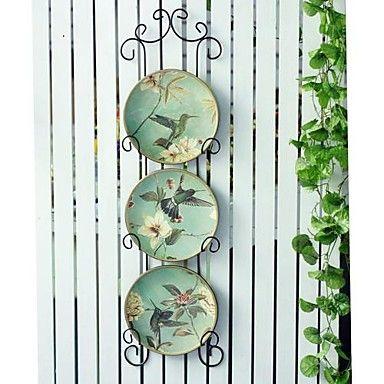 The Ceramic Hanging Dish American Hummingbird Design Set Of 3                             – AUD $ 59.02