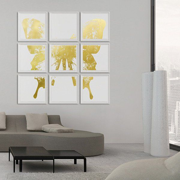 Butterfly with Forest Wings Collection #artsquaredinc #art #design #gold #goldleaf #artandnature #ButterflyForest #butterflyart