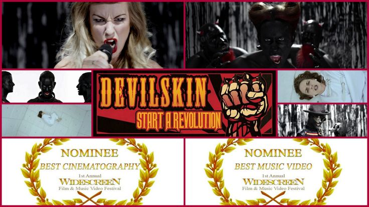Huge congrats to Devilskin - Start A Revolution and everyone involved for the nominations for Best Music Video and Best Cinematography from WideScreen Film & Music Video Festival at AMC Theaters Aventura MARCH 2015  Festival Promo Video: https://www.facebook.com/video.php?v=1529170757365326 Festival Facebook Page: https://www.facebook.com/widescreenfest?fref=photo Website: http://widescreenfest.com/