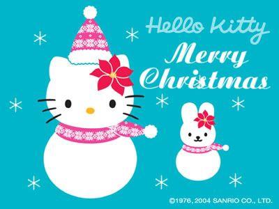 Merry Christmas Hello Snow Kitty