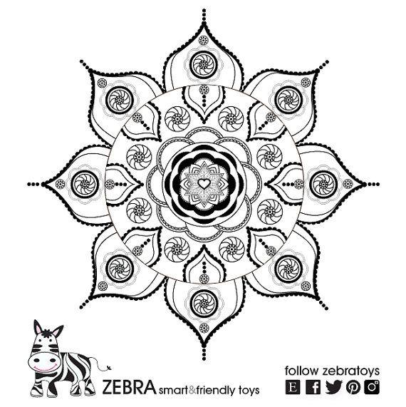 Shanti mandala star of david gypsy art jewish star for Jewish mandala coloring pages
