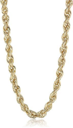 Men`s 10k Yellow Gold 3mm Hollow Rope Chain Necklace for only $179.00 You save: $341.00 (66%)