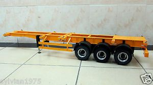 3-axis Large Metal Semi Trailer for all Tamiya 1/14 Tractor Truck NEW IN BOX