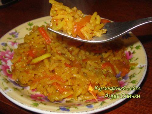 Вкусный плов Сегодня приготовим вкусный плов с овощами. Я открою вам маленькие хитрости, как варить рассыпчатый плов. Ингредиенты: Рис 1 стакан, 2 большие моркови, 2 большие луковицы, 1 ст. растительного масла. Специи: Барбарис, тимьян, куркума, перец молотый черный, перец душитый горошком, лавровый лист, соль. 3 - 4 зубчика чеснока.