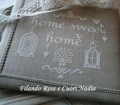 Home Sweet Home schema di Cuore e Batticuore www.cuoreebatticuorericamoecucitocreativo.blogspot.it