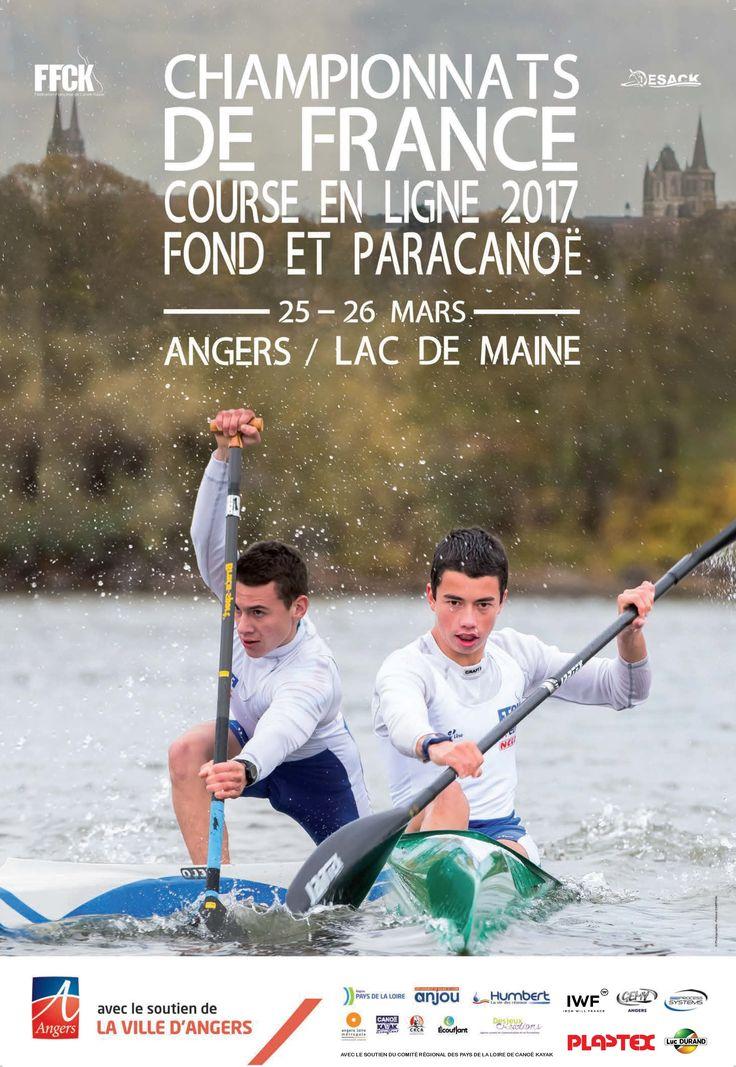 Un week-end très sportif à Angers les 25 et 26 mars 2017, venez prendre un bol d'air au Lac de Maine, qui accueille les Championnats de France de canoë.