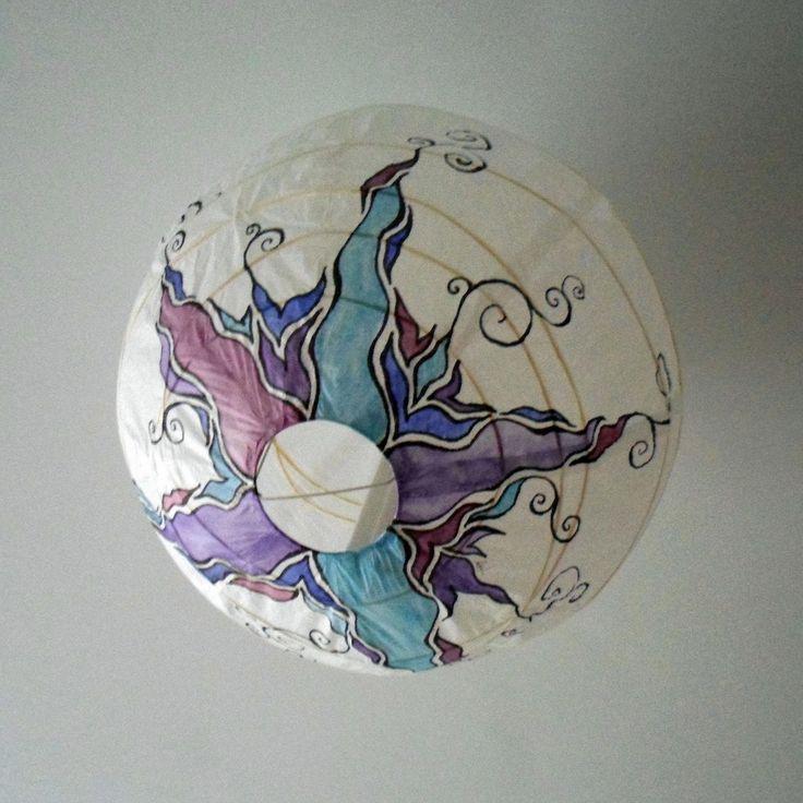 Arts and Crafts. Decorando una lámpara REGOLIT   MI LLAVE ALLEN