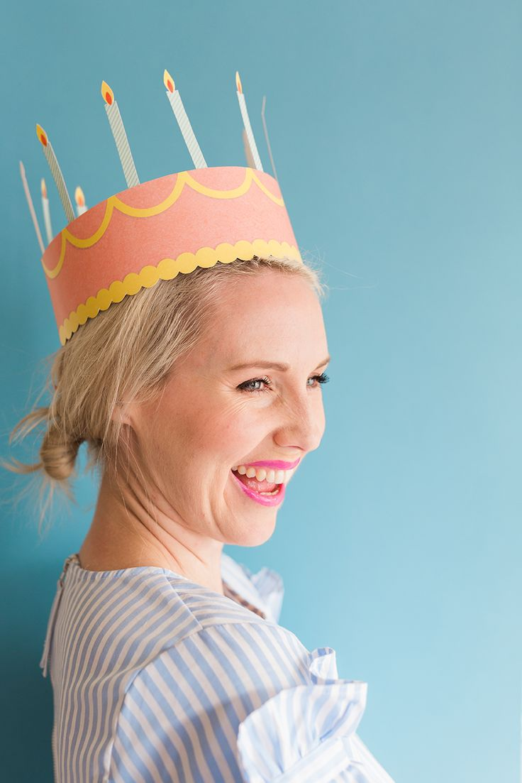 DIY printable birthday crown - The House That Lars Built