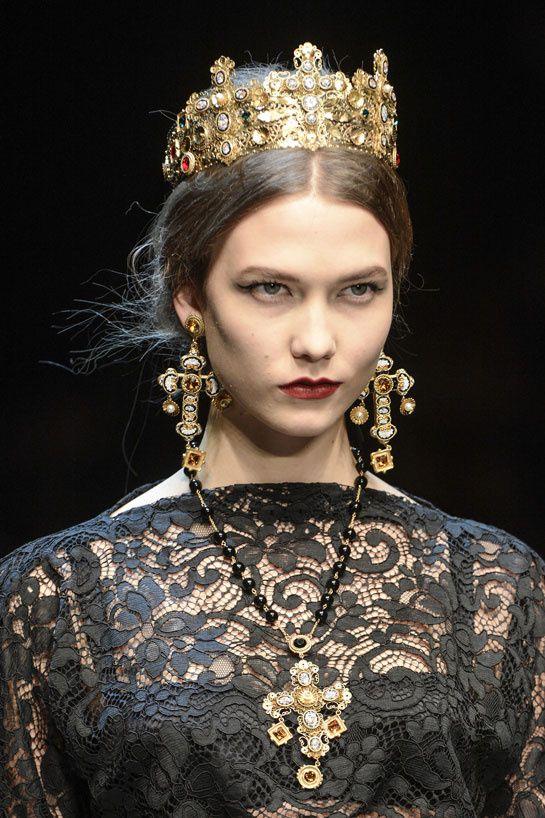 Dolce & Gabbana cross baroque earrings fall/Winter 2013-2014 Santa Maria Nuova de Monreale