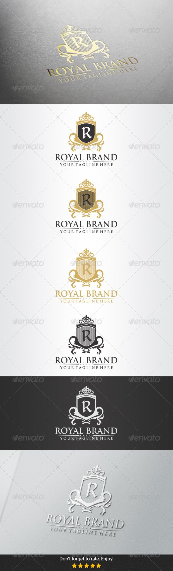 Royal Brand Logo — Vector EPS #education #royal blue • Available here → https://graphicriver.net/item/royal-brand-logo/5380974?ref=pxcr