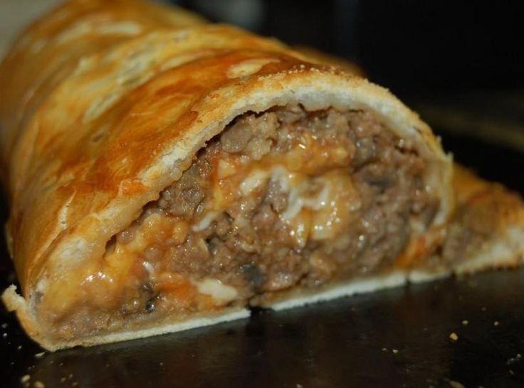 My pastry stuffed meatloaf roll | Food | Pinterest