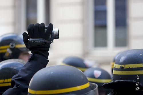 Manifestation devant la préfecture de Lyon lors du conseil des ministres