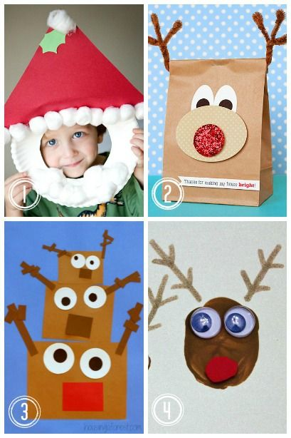 Santa and His Reindeer ~ over 20 Christmas Crafts for kids focusing on Santa and his Reindeer.