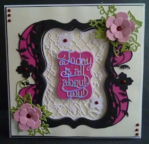 Card made using the new Tonic craftinator Flip Flop, Frame and Easel die set