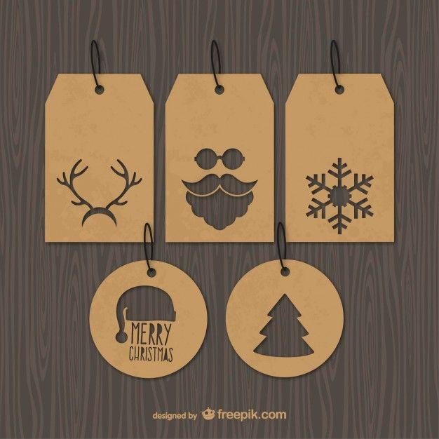 Étiquettes vintages de Noël