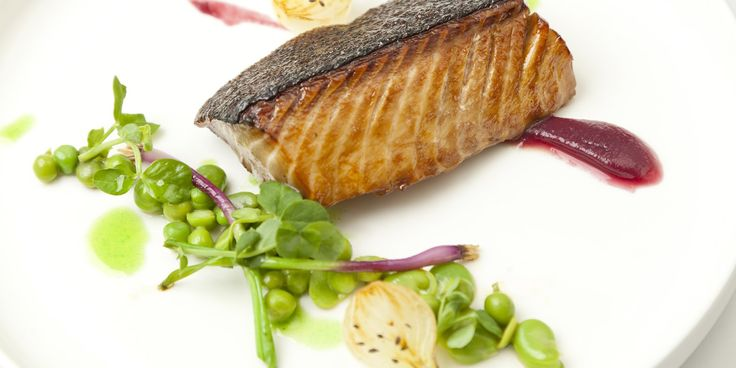 Francesco Mazzei marinates Alaska black cod in liquorice, Prosecco and tarragon before slowly grilling and serving with wonderfully fresh peas and broad beans