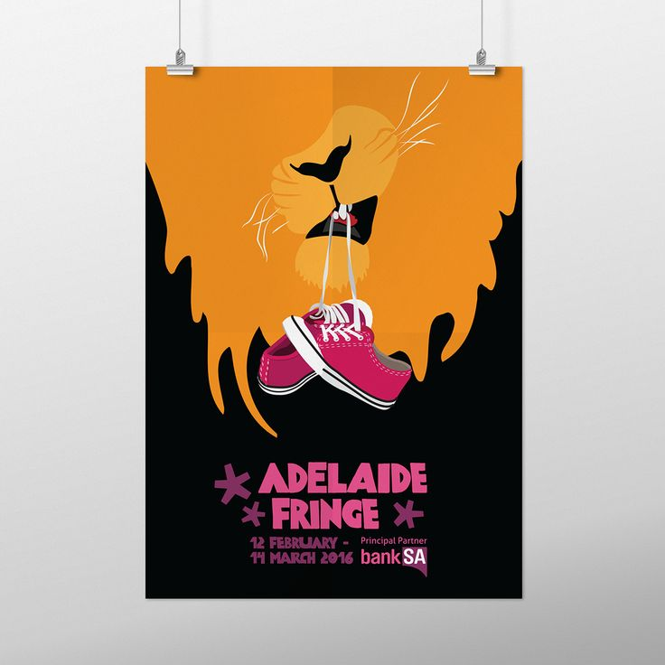Poster Contest:Walk on the Wild Side. Lion, sneakers, pink, black, orange, illustration