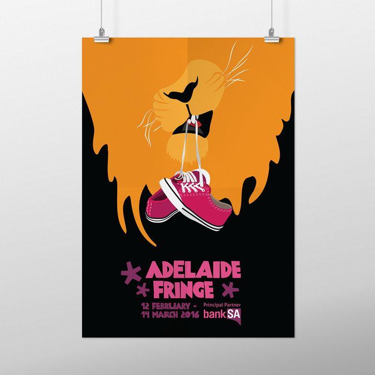 Poster Contest:Walk on the Wild Side. Lion, sneakers, pink, black, orange, illustration