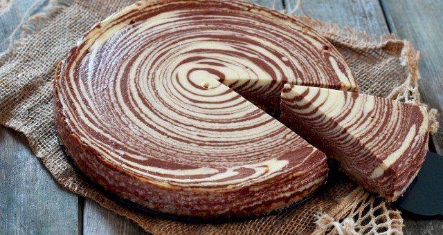 Η αυθεντική συνταγή του cheesecake ζέβρα: νοστιμότατο, ελκυστικό και εύκολο να…