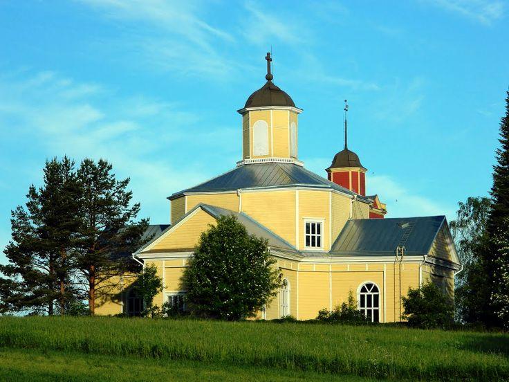 Lehtimäen kirkko. Lutheran church Lehtimäki, Finland.