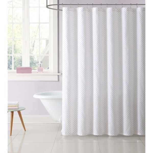 Dupree Everyday Dot Shower Curtain Has A Simple Dot Pattern Is A Light Hearted Coordinate To A Gray Shower Curtains Pink Shower Curtains Purple Shower Curtain