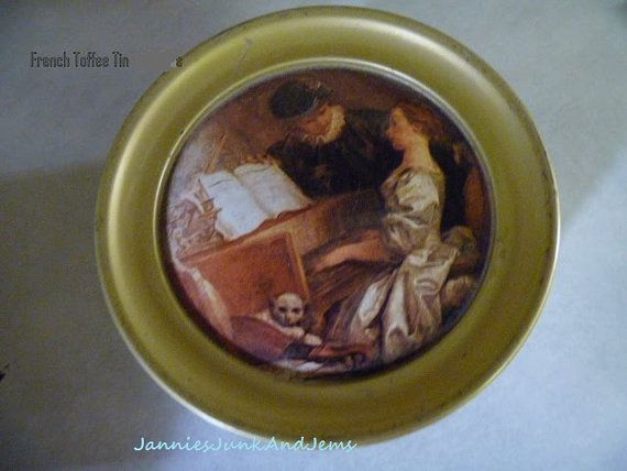 Small French TOFFEE TIN by TinTack on Etsy, €8.00
