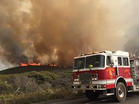 09/23/2016 - Vandenberg Air Force Base now has three fires burning, with a new start Friday afternoon.