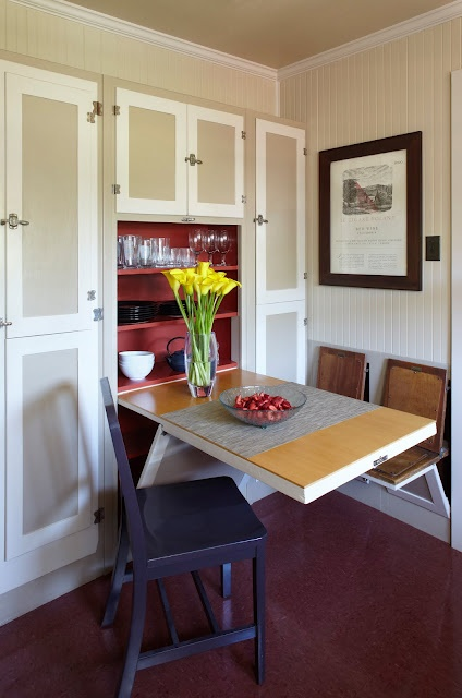 Great Hide Away Kitchen Table And Chairs For Small Space.
