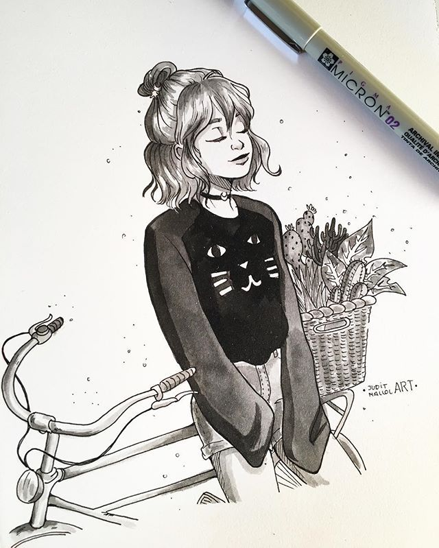 #inktober day 29!  Taking a moment to enjoy the sunshine