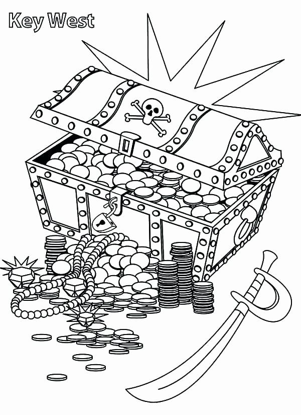 Treasure Chest Coloring Page Best Of Treasure Box Coloring Page At Getcolorings In 2020 Pirate Coloring Pages Coloring Pages Elsa Coloring Pages