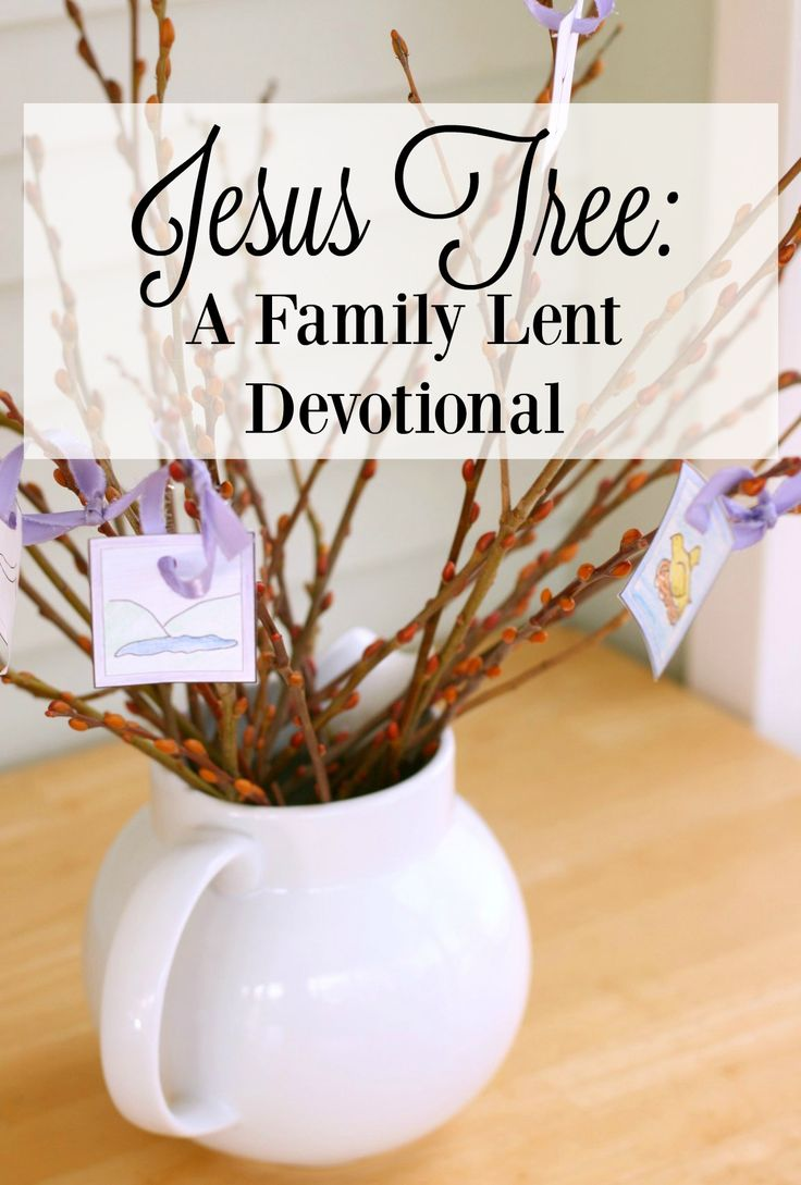 "The Jesus Tree!  This is perfect for a simple family lent devotional.  Read a story from Jesus' life and ministry and hang an ornament on your ""tree.""  Just $3.99!"