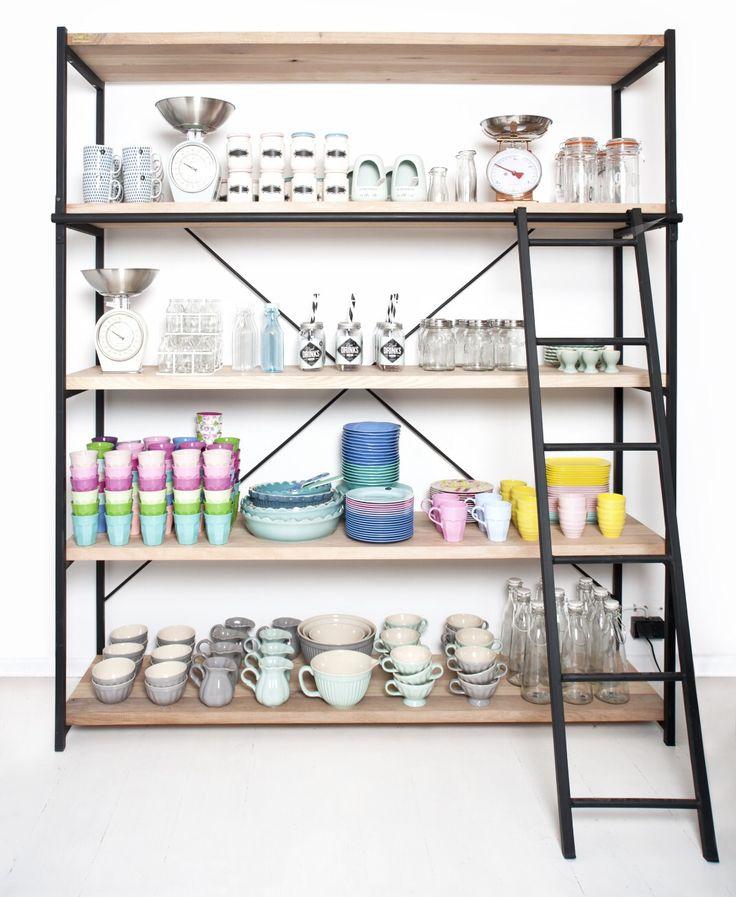 Cross bookstand, each shelf has been made from four wood species: ash, beech, larch and oak. #bookstand #industrial #industrialbookstand #industrialstyle #wood #steel #woodenbookstand #shelves #interiordesign #design #livingroom