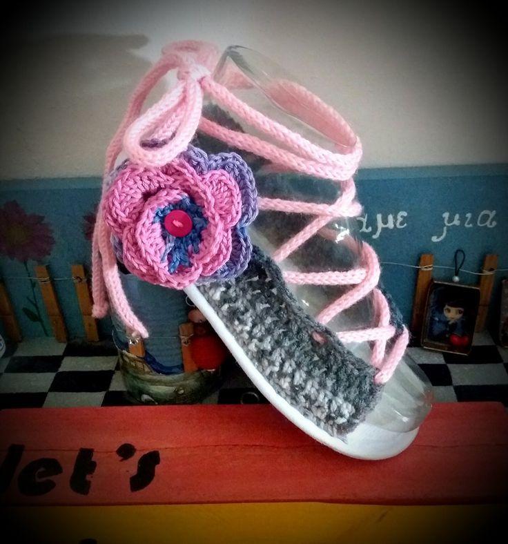 crochet summer sandals