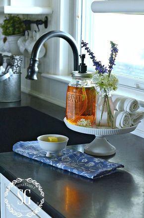 Cake Stand Kitchen Sink Soap Holder