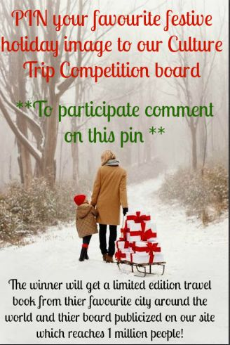 We invite you to compete in The Culture Trip's Holiday Competition! Pin your favorite festive holiday image to our Culture Trip competition board. The winner will get a limited edition travel book from their favorite city around the world and their board publicized on our site which reaches 1 million people!