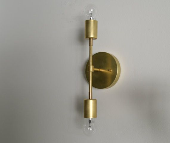 The Wild. Solid Brass wall lamp ceiling sconce by TripleSevenHome