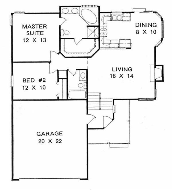 This pleasing multi-level or split level home with a small footprint has over 1000 sq ft of living space. The one story floor plan includes 2 bedrooms.
